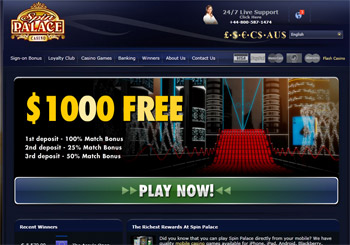 spin palace casino login