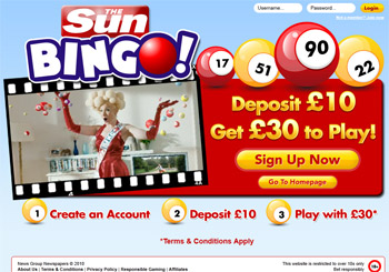 The sun bingo login